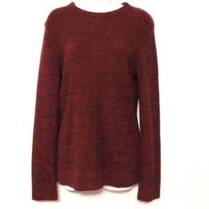 H&M Oversized red wine knit sweater XS
